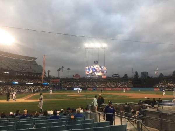 Dodger Stadium, secção: 12FD, fila: C, lugar: 1