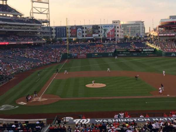 Nationals Park, secção: 218, fila: A, lugar: 15