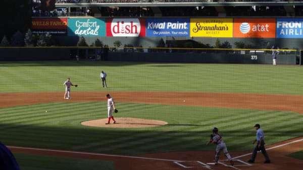 Coors Field, secção: 132, fila: 30, lugar: 12
