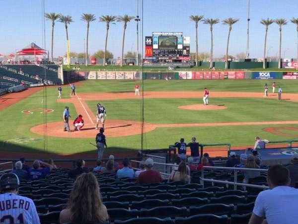 Goodyear Ballpark, secção: 114, fila: X, lugar: 7