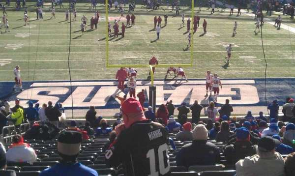 MetLife Stadium, secção: 101, fila: 33, lugar: 25