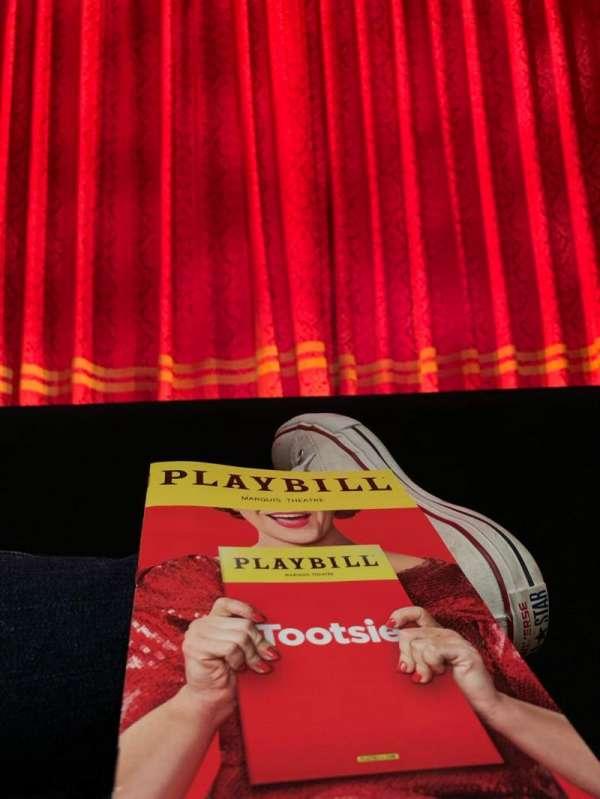 Marquis Theatre, secção: Orchestra C, fila: A, lugar: 106