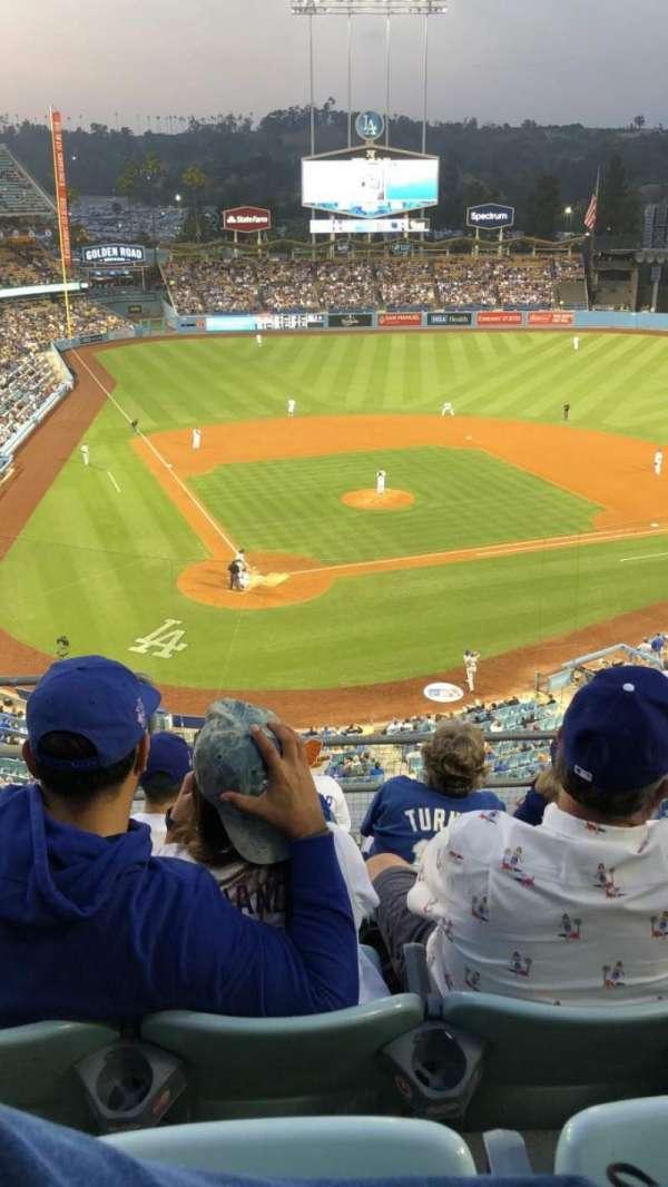 Dodger Stadium, secção: 6RS, fila: F, lugar: 1
