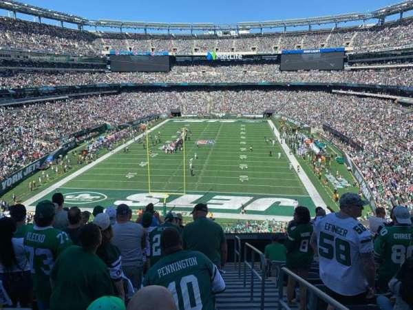 MetLife Stadium, secção: 225a, fila: 10, lugar: 1