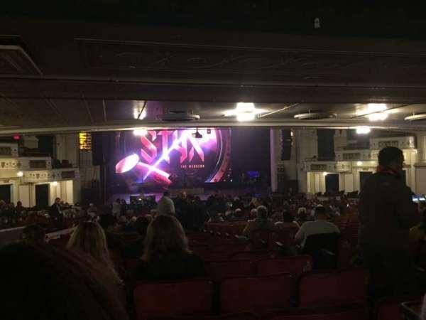 Orpheum Theatre (Boston), secção: Orchestra LC, fila: X, lugar: 107