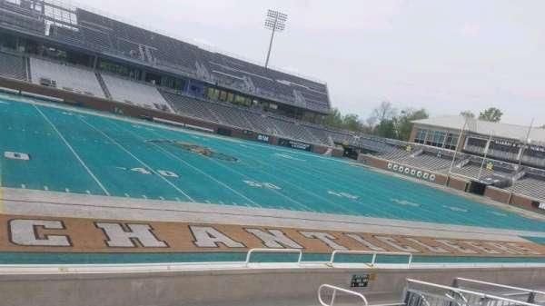 Brooks Stadium, secção: 103, fila: H, lugar: 15