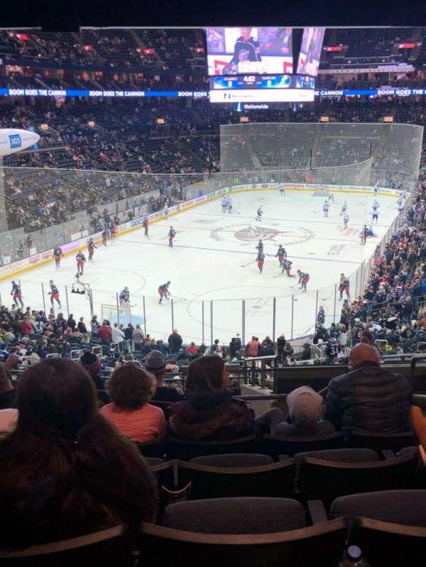 Nationwide Arena, secção: 119, fila: NN, lugar: 5