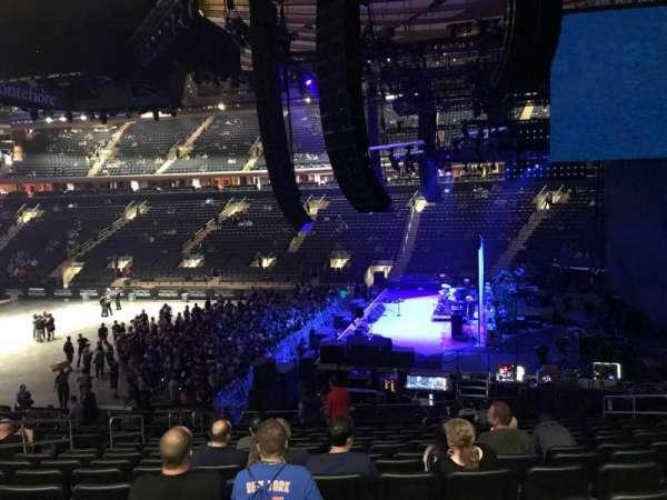 Madison Square Garden, secção: 109, fila: 20, lugar: 19