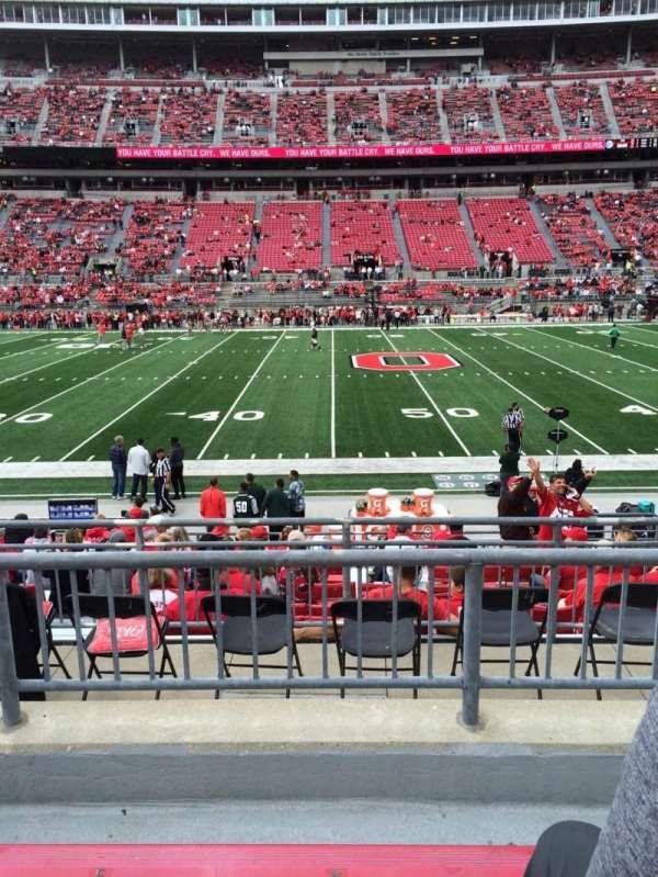 Ohio Stadium, secção: 22A, fila: 3, lugar: 4