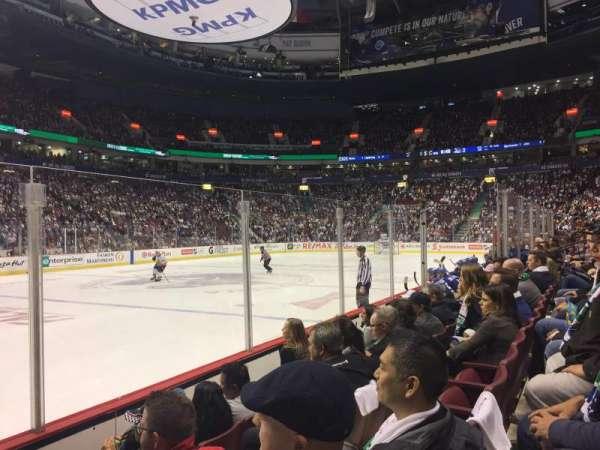 Rogers Arena, secção: 119, fila: 4