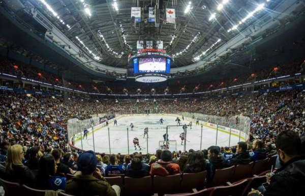 Rogers Arena, secção: 112, fila: 13, lugar: 6