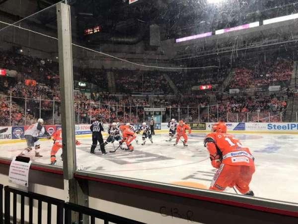 Sheffield Arena, secção: 116, fila: B, lugar: 4