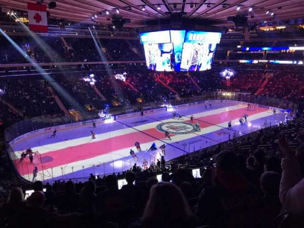 Madison Square Garden, secção: 208, fila: 7