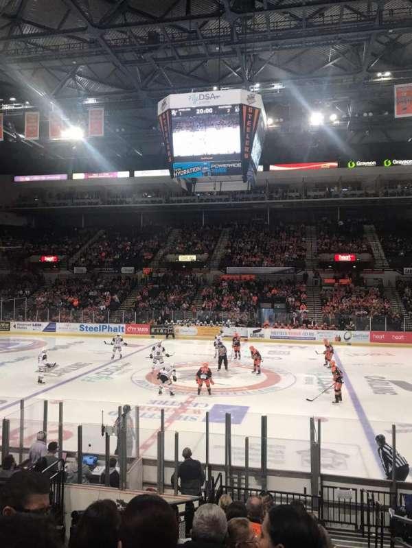 Sheffield Arena, secção: 117, fila: N, lugar: 21
