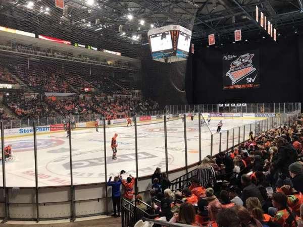 Sheffield Arena, secção: 114, fila: K, lugar: 2