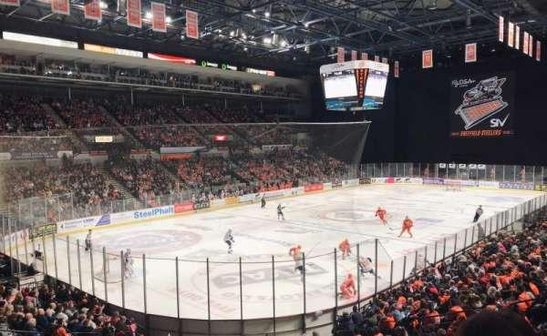 Sheffield Arena, secção: 213, fila: B, lugar: 17
