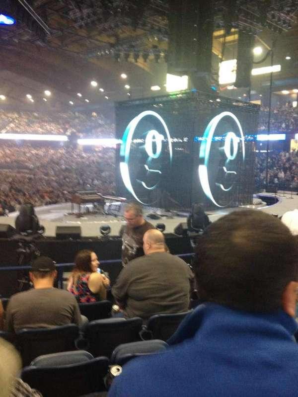 Allstate Arena, secção: 108, fila: k, lugar: 3