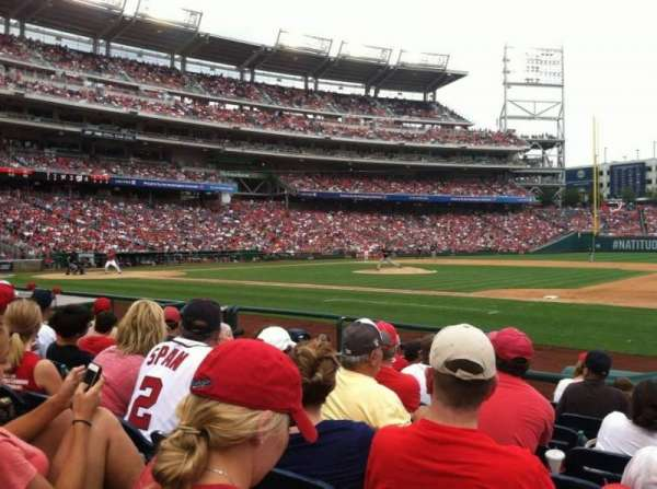 Nationals Park, secção: 130, fila: H, lugar: 1