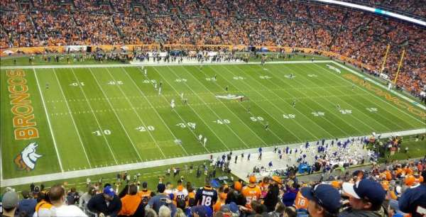 Empower Field at Mile High Stadium, secção: 539, fila: 23, lugar: 1
