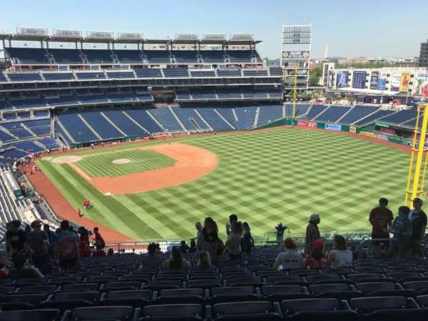 Nationals Park, secção: 230, fila: W, lugar: 11