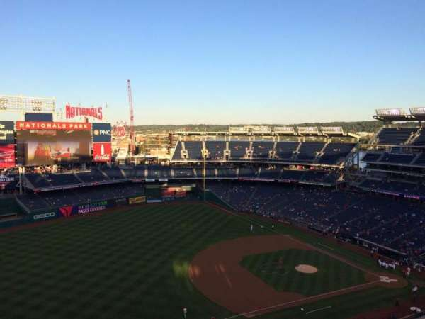 Nationals Park, secção: 404, fila: K, lugar: 4