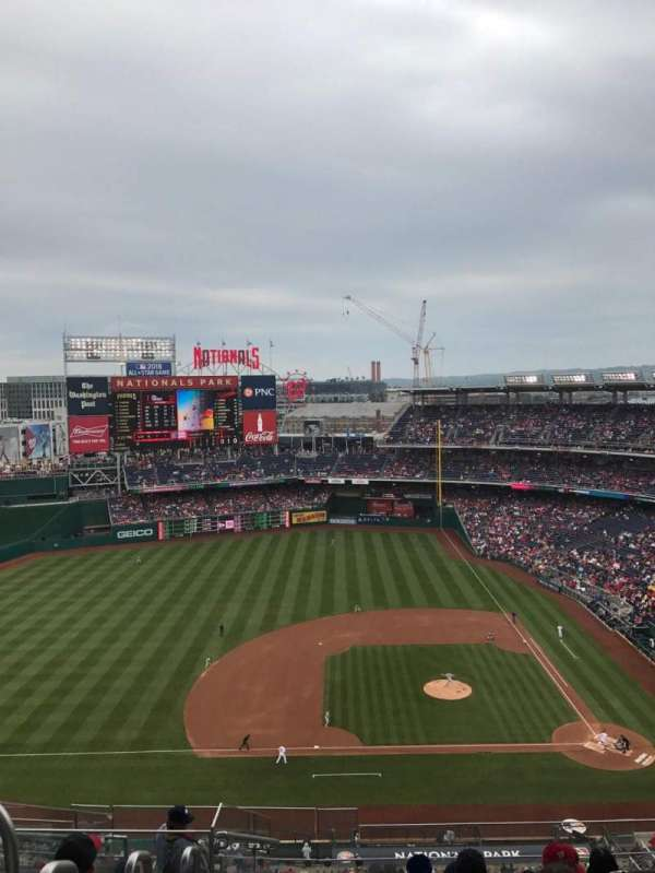 Nationals Park, secção: 408, fila: K, lugar: 27