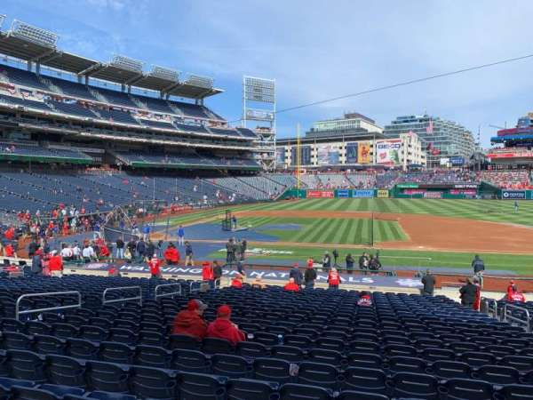 Nationals Park, secção: 129, fila: CC, lugar: 6