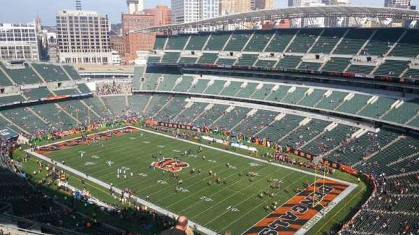 Paul Brown Stadium, secção: 303, fila: 19, lugar: 1