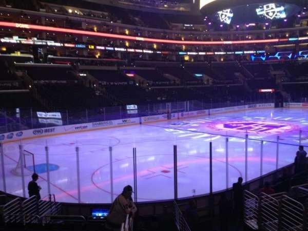 Staples Center, secção: 105, fila: 15, lugar: 1