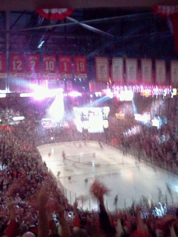 Joe Louis Arena, secção: 216a, fila: 20, lugar: 5