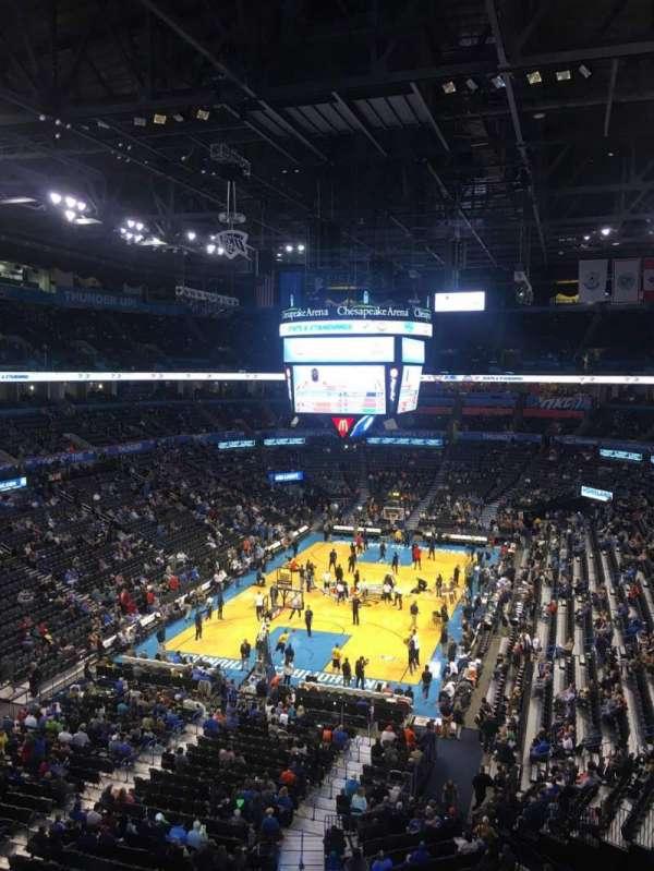 Chesapeake Energy Arena, secção: 329, fila: A