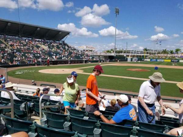 Hammond Stadium at CenturyLink Sports Complex, secção: 103, fila: 10, lugar: 17