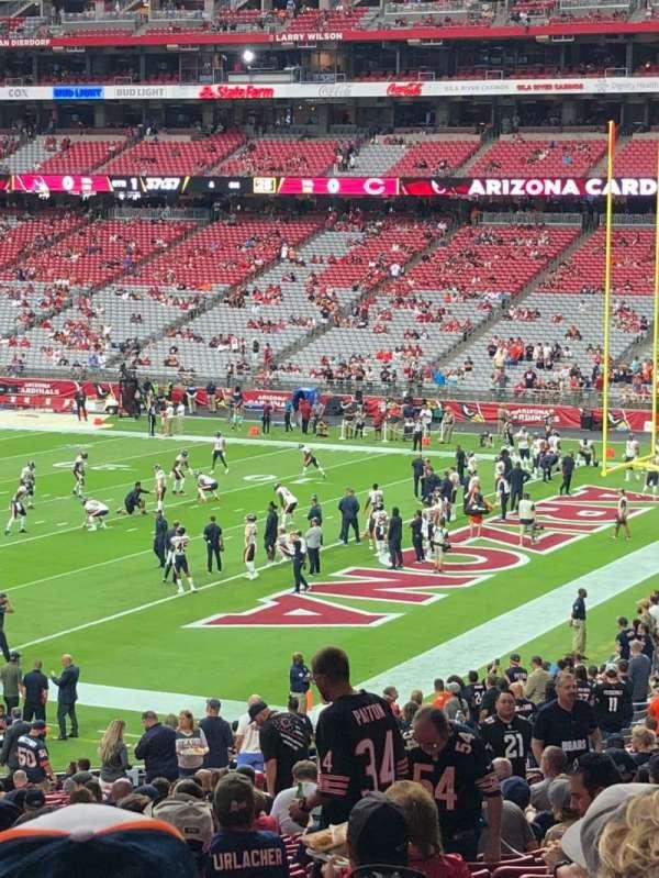 State Farm Stadium, secção: 124, fila: 38, lugar: 17