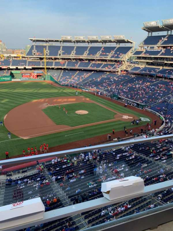 Nationals Park, secção: 307, fila: A, lugar: 25