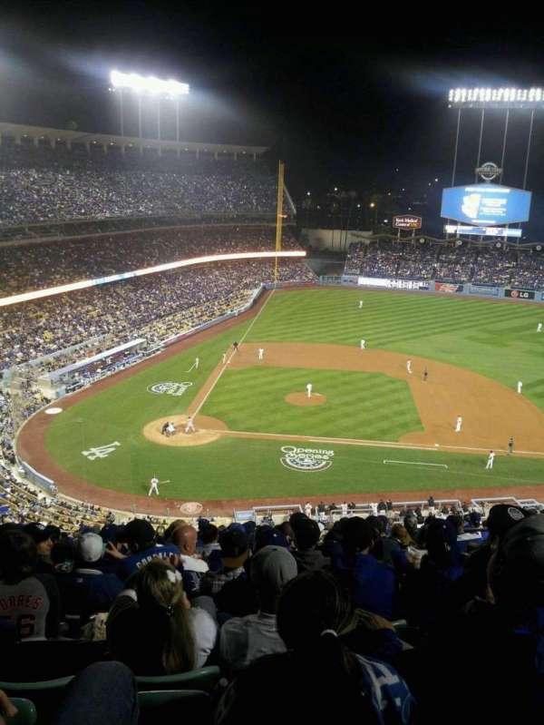 Dodger Stadium, secção: 10RS, fila: S, lugar: 14