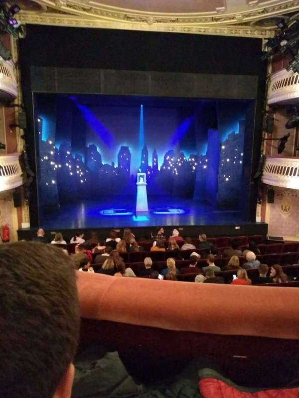 Criterion Theatre, secção: dress circle, fila: G, lugar: 20