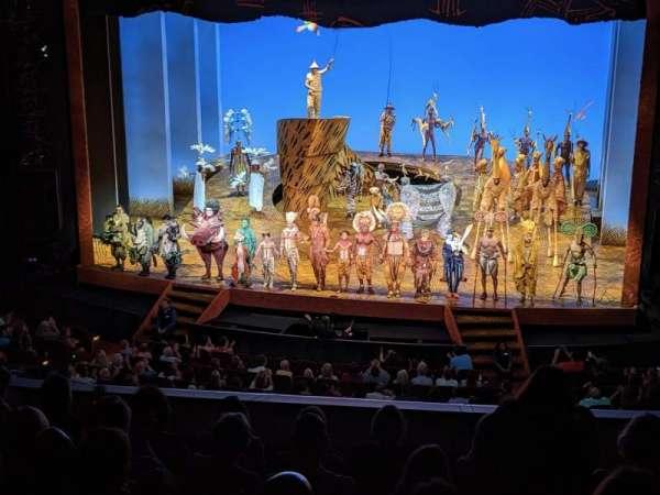 Minskoff Theatre, secção: Mezzanine, fila: G, lugar: 137