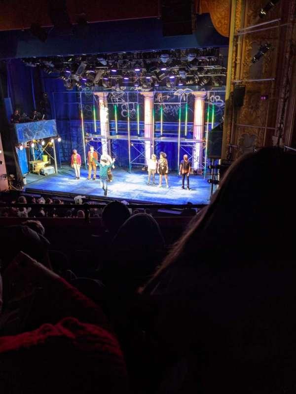 Longacre Theatre, secção: Mezzanine R, fila: D, lugar: 11