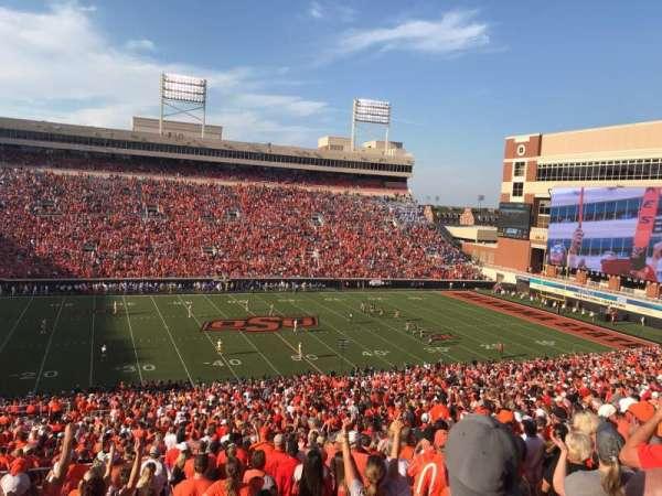 Boone Pickens Stadium, secção: 307, fila: 18, lugar: 20