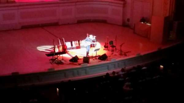 Carnegie Hall, secção: Box 44, fila: 1, lugar: 1