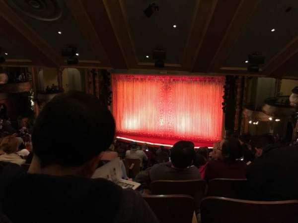 New Amsterdam Theatre, secção: Mezzanine R, fila: QQ, lugar: 4