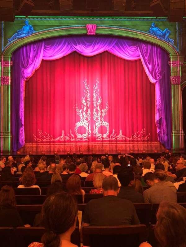 Hudson Theatre, secção: Orchestra C, fila: O, lugar: 109