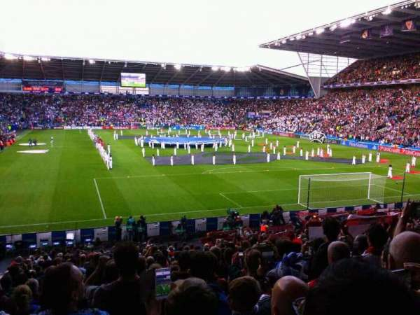 Cardiff City Stadium, secção: 126, fila: y, lugar: 100