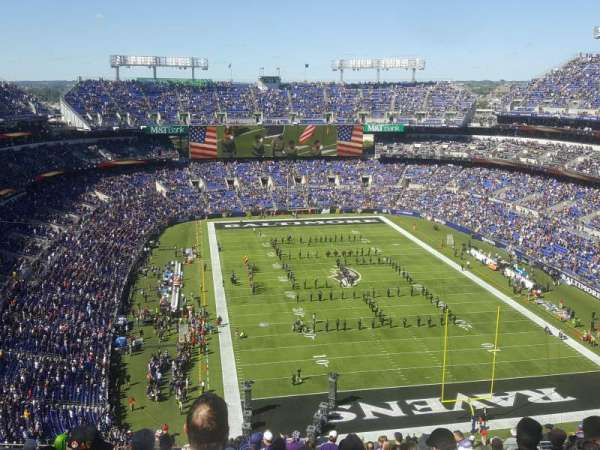 M&T Bank Stadium, secção: 515, fila: 20, lugar: 16