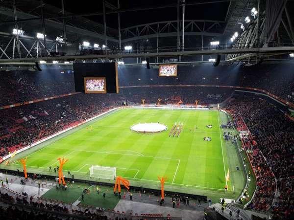 Johan Cruyff Arena, secção: 412, fila: 26