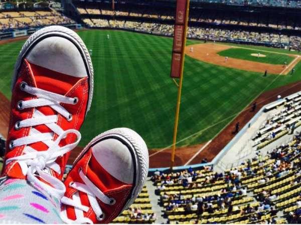 Dodger Stadium, secção: Way, fila: Up, lugar: High