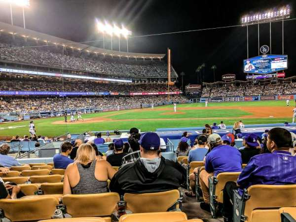 Dodger Stadium, secção: 16FD, fila: J, lugar: 8
