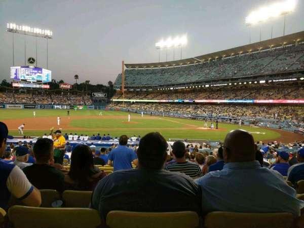 Dodger Stadium, secção: 19FD, fila: U, lugar: 4