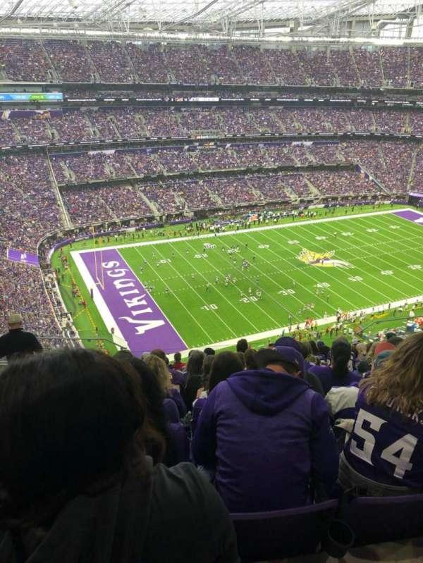 U.S. Bank Stadium, secção: 317, fila: 13, lugar: 15