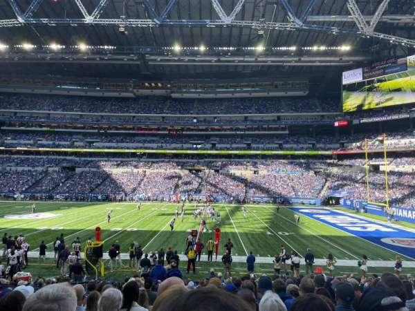 Lucas Oil Stadium, secção: 110, fila: 18, lugar: 21